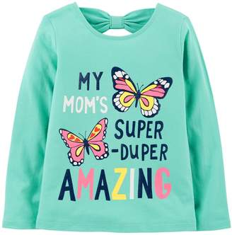 Carter's Baby Girl Bow-Back Graphic Tee