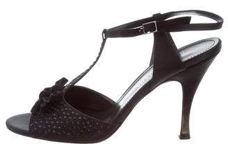 Sonia Rykiel Satin Embellished Sandals