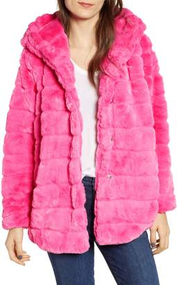 APPARIS Goldie Faux Fur Hooded Jacket