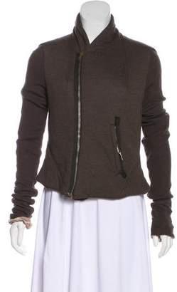 Rick Owens Lilies Zip-Up Knit Jacket