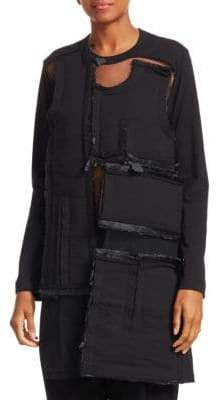 Comme des Garcons Multi-Textile Jersey Tunic Dress Top
