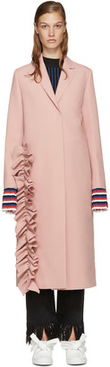 MSGM Pink Ruffle Coat $765 thestylecure.com