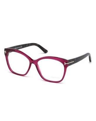 Tom Ford Round Square Optical Frames, Fuchsia