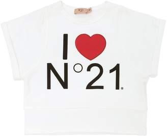 N°21 Light Cotton Cropped Sweatshirt