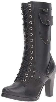 """Ride Tec Women's 8685 13"""" Side Pocket Biker Work Boot"""
