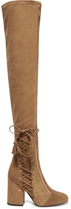 Laurence Dacade - Maren Stretch-suede Over-the-knee Boots - Tan $1,695 thestylecure.com