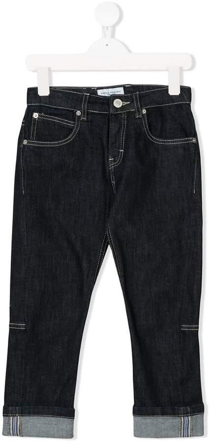 Paolo Pecora Kids turn-up denim jeans