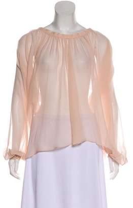 Tom Ford Sheer Silk Blouse