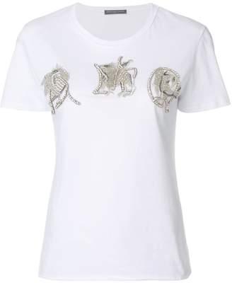 Alexander McQueen embroidered appliqués T-shirt