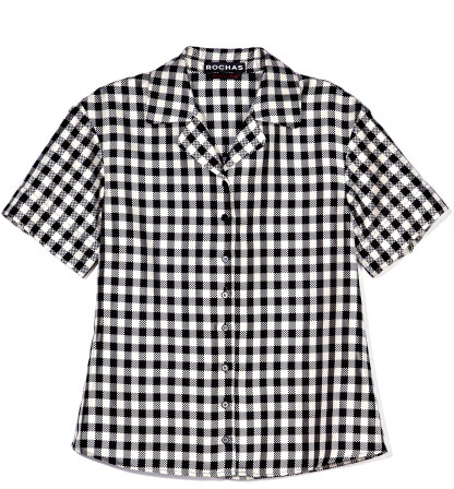 Rochas Short Sleeve Gingham Check Shirt