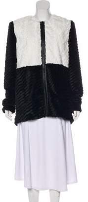 Alice + Olivia Faux-Fur Short Coat