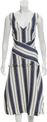 Edun Woven Midi Dress