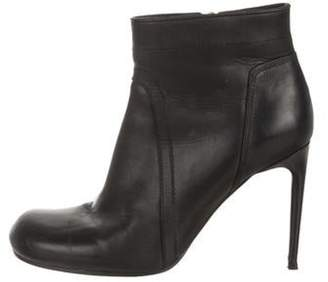 Rick Owens Leather Ankle Boots Black Leather Ankle Boots