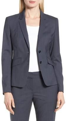 BOSS Jalouise Pepita Stretch Wool Suit Jacket (Regular & Petite)