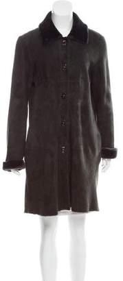 Michael Kors Knee-Length Shearling Coat