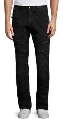 PRPS Savoy Slim Straight Moto Pants