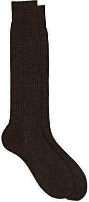 Barneys New York Men's Rib-Knit Wool-Blend Knee Socks - Brown