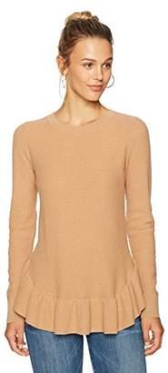Ella Moon Women's Catalina Long Sleeve Ruffle Hem Sweater