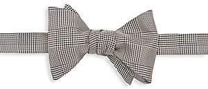 Ralph Lauren Purple Label Men's Prince of Wales Silk Plaid Bow Tie