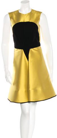 Saint LaurentYves Saint Laurent Silk Colorblock Dress