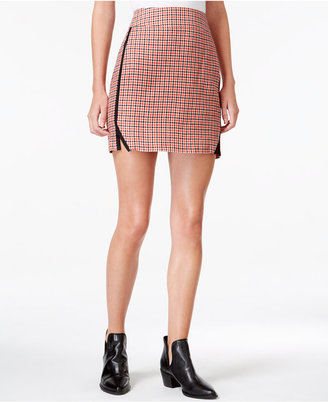 Maison Jules Houndstooth-Print Mini Skirt, Only at Macy's $49.50 thestylecure.com