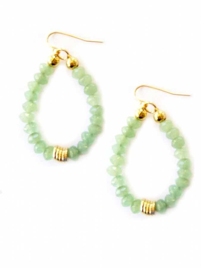 K. Amato Beaded Teardrop Earrings