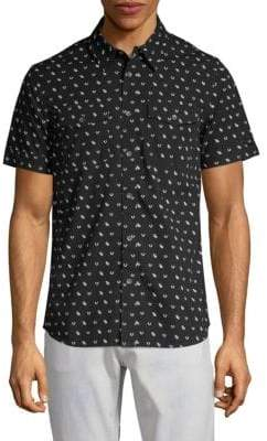 True Religion Monogram Cotton Utility Shirt