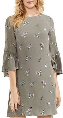 Vince Camuto Bouquet-Print Bell-Sleeve Dress