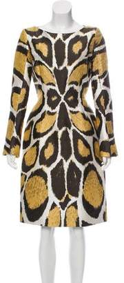 Giles Animal Print Knee-Length Dress