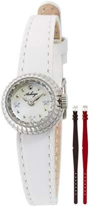 Crepha (クレファー) - [クレファー]CREPHA 腕時計 ファッション ウォッチ オーベルジュ 革ベルト 替えベルト付き ホワイト ABG-001-WH レディース