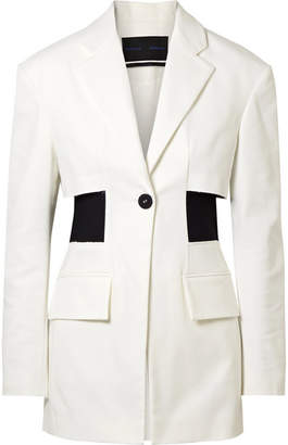 Proenza Schouler Paneled Cotton-blend Twill Blazer - Off-white
