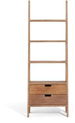 LOMBOK Sumatra Ladder Bookcase With Drawers