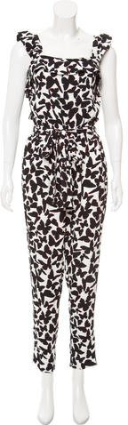 Kate Spade New York Printed Sleeveless Jumpsuit
