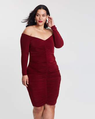 Bardot Slinky Centre Ruched Dress