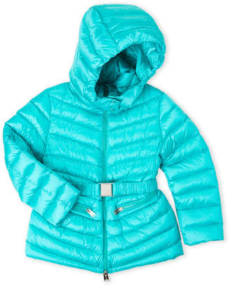 ADD Girls 7-16) Belted Hooded Down Coat