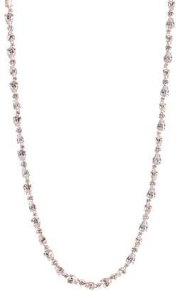 Nadri Rose Gold Plated Ava Teardrop & Round Cut CZ Necklace