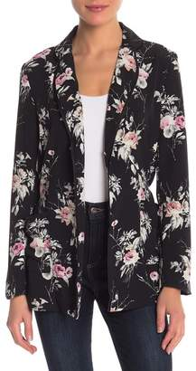 Aster re:named apparel Floral Waist Tie Blazer