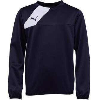 Puma Junior Boys Esquadra Training Sweatshirt Navy/White