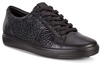 Ecco Women's Soft 7 Lace Trainers, Black (Black/Black 51052)