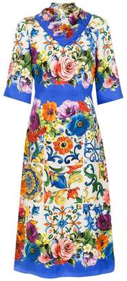 Dolce & Gabbana short-sleeve printed dress