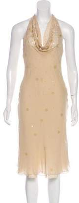 Armani Collezioni Sequined Midi Dress