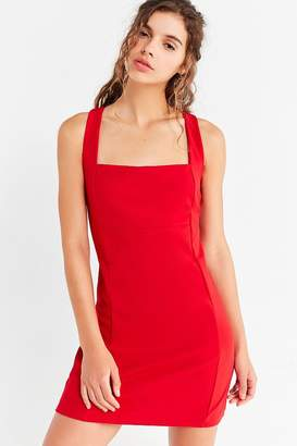 Oh My Love Square-Neck Ponte Dress