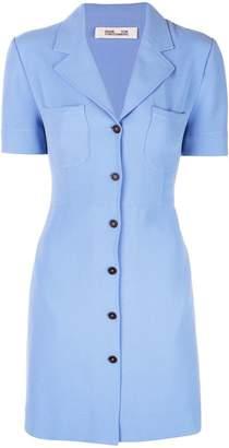 Diane von Furstenberg buttoned mini dress