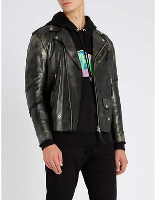 Diesel L-Ingran slim-fit leather jacket