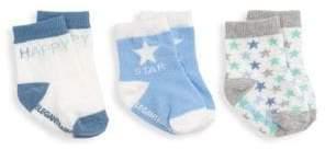 Elegant Baby Baby's Blue Happy Stars Sock Trio
