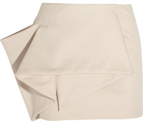 Marc by Marc Jacobs Folded Stretch Cotton-Blend Mini Skirt