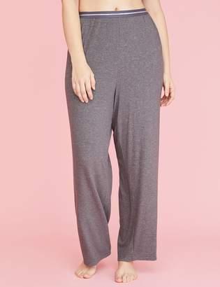 Lane Bryant Brushed Jersey Sleep Pant - Striped Waistband