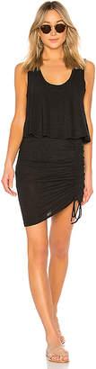 Lanston Layered Drawstring Mini Dress