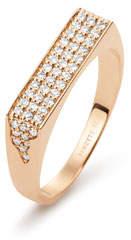 ginette_ny 18k Rose Gold Diamond Signet Ring, Size 7