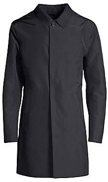 Corneliani Men's Laser Cut Wool Raincoat